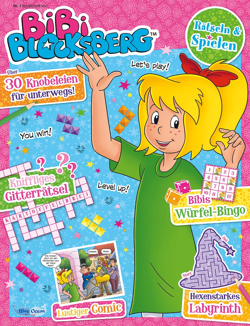 M/ütze Bibi Blocksberg auf blau 50-54